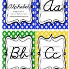This is an alphabet set to display in your classroom.  The set features both upper- and lower-case letters in cursive (or penmanship) style of writ...