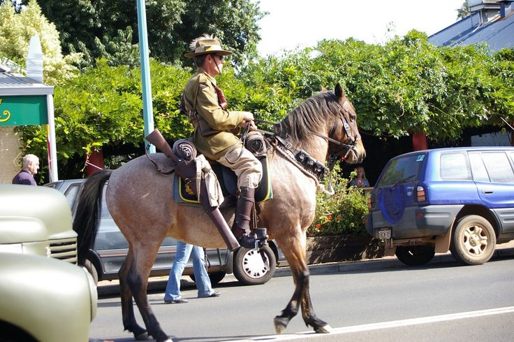 ANZAC Day 2013 included a re-creation of the famous Light Horse using a rescued Waler from Wadi Farm. The Waler horses were sent overseas in their thousands in WWI and sadly, none were repatriated. #nannuprealestate #naturallynannup