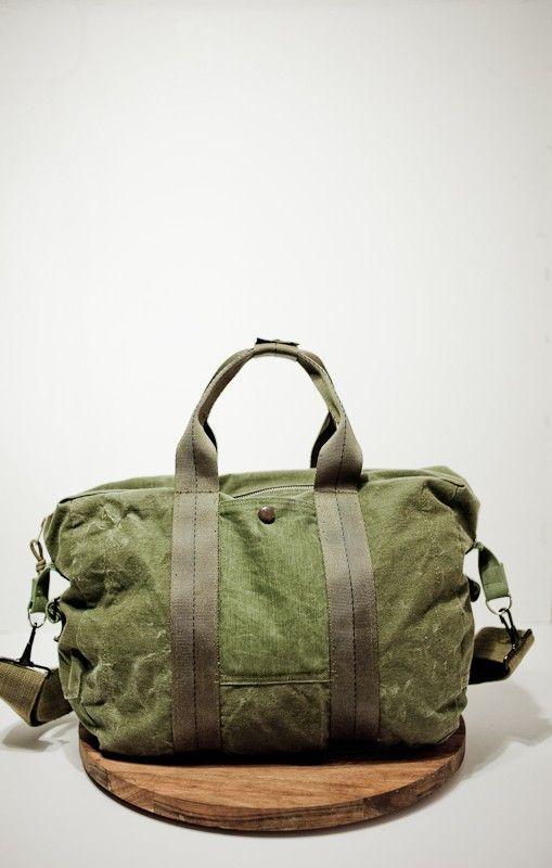 Matt Hallenberger - Warn denim army flight bag -- Good trunk kit bag
