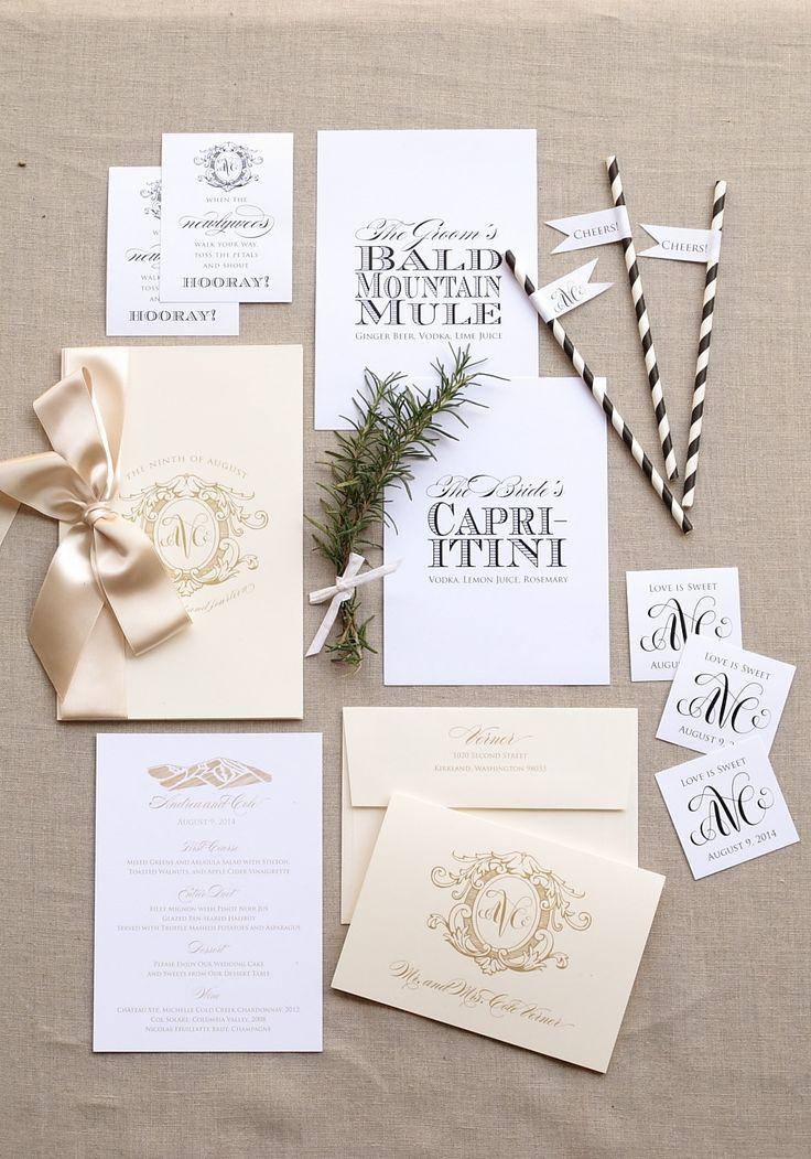 Burlap Letterpress Wedding Invitation 47 best Wedding