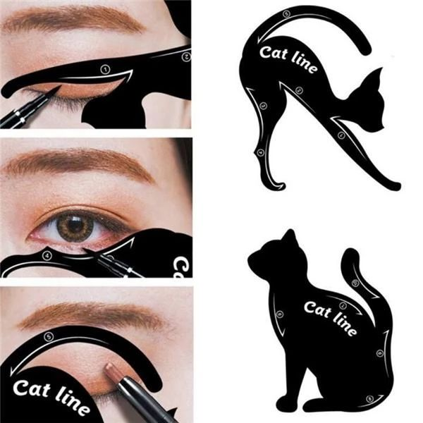 60% OFF Today>>2-in-1 Cat Eyeliner Stencil
