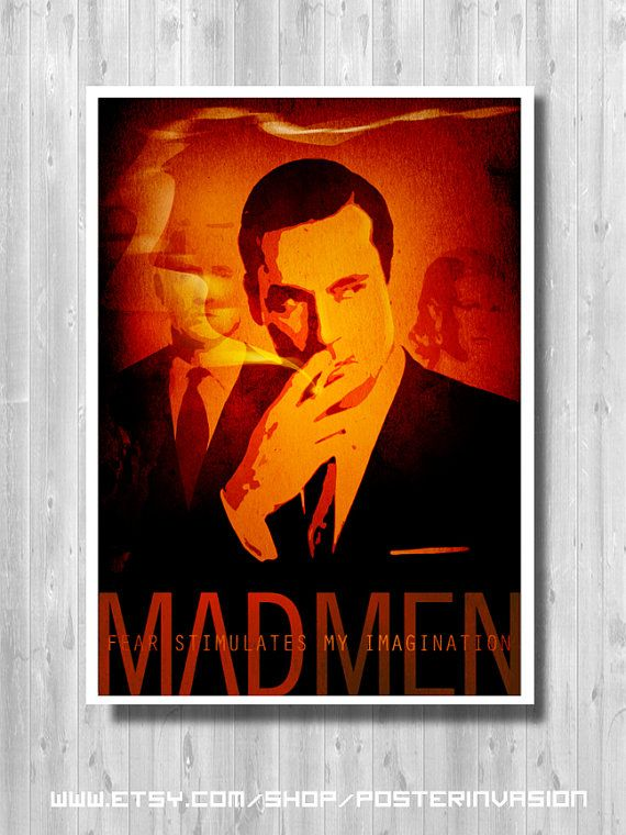 Mad Men poster Don Draper print Don Draper Quote by PosterInvasion