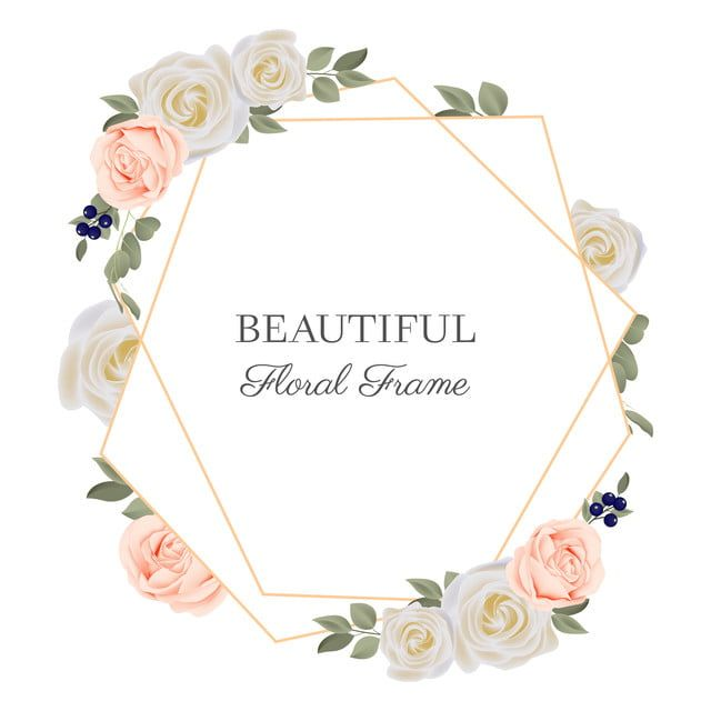 rustic rose floral frame with golden geometric line gold rustic line png and vector with transparent background for free download in 2020 rose flower pattern geometric lines pink roses background rustic rose floral frame with golden