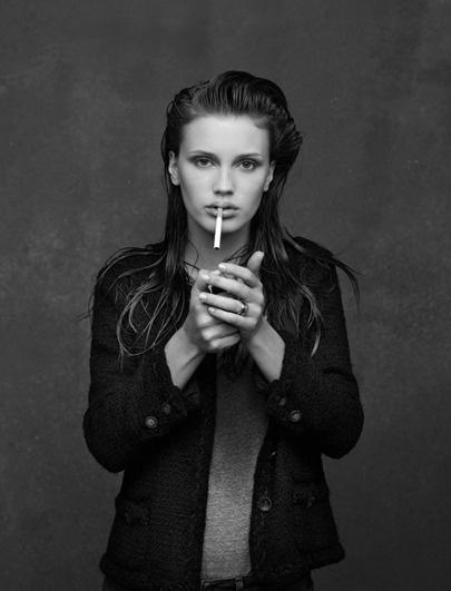Chanel little black jacket by Marine Vacth
