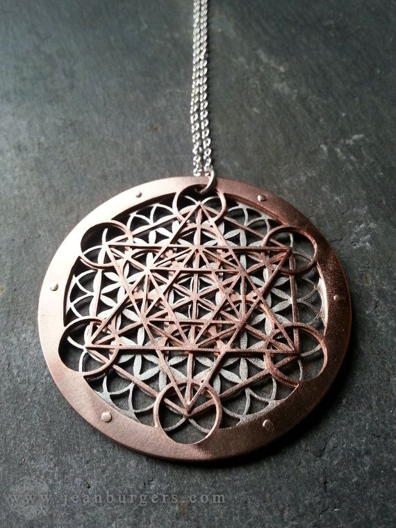 Large Metatron's Cube and Flower of Life Pendant