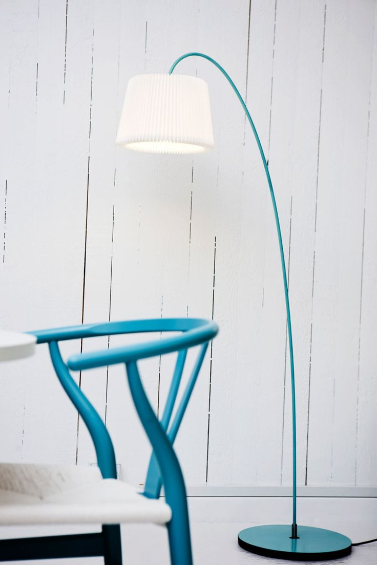 Snowdrop lamp in aqua