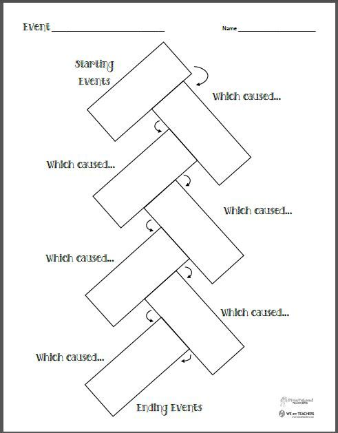 Free Printable of the Week: Chain Reaction/Cause-and