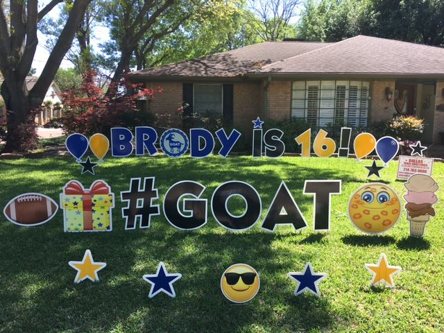Brody Is 16 Goat Happy Birthday Yard Signs Birthday Yard Signs Boy Birthday