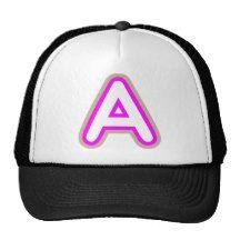 ALPHABETS AAA PINK TRUCKER HAT