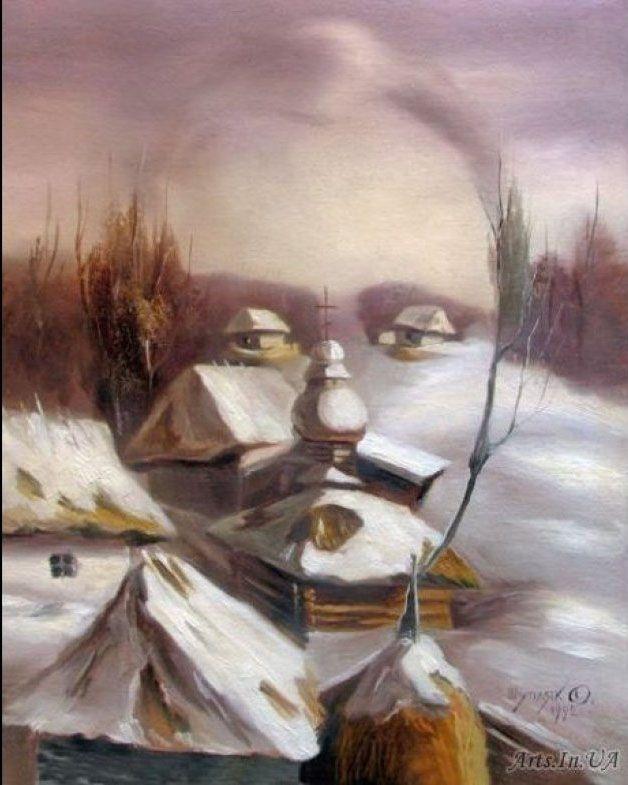 oleg shuplyak illusion painting. Read Full article: http://webneel.com/webneel/blog/10-amazing-hand-painting-illusions-ray-massey-and-annie-ralli | more http://webneel.com/paintings . Follow us www.pinterest.com/webneel