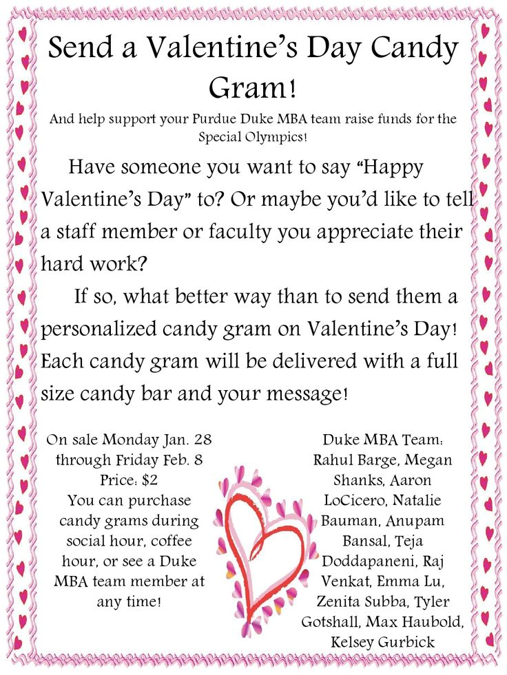 candy gram order form - Google Search | Fundraiser Ideas ...