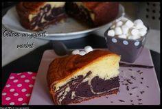 Gâteau au yaourt marbré vanille-choco
