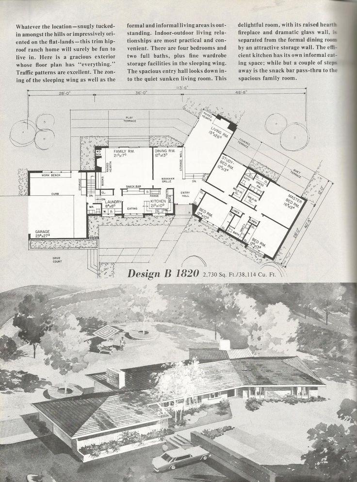 21 best eichler house plans images on pinterest vintage house