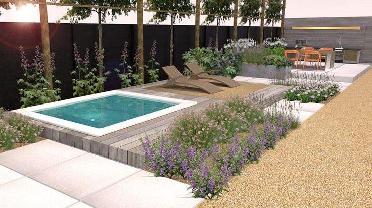 Idee voor klein zwembad in tuin
