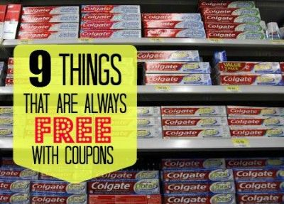 The Homestead Survival | 9 Things That Are Always Free With Coupons | http://thehomesteadsurvival.com