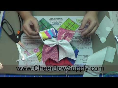 How To Make Cheer Bows With Perfectly Placed Graphics - YouTube