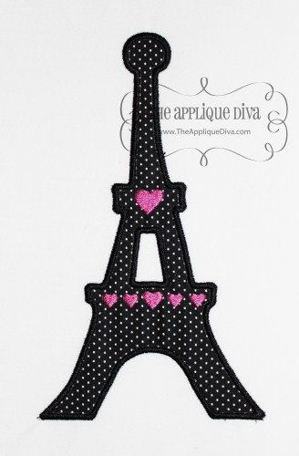 Paris Eiffel Tower Embroidery Design Machine by theappliquediva, $2.99