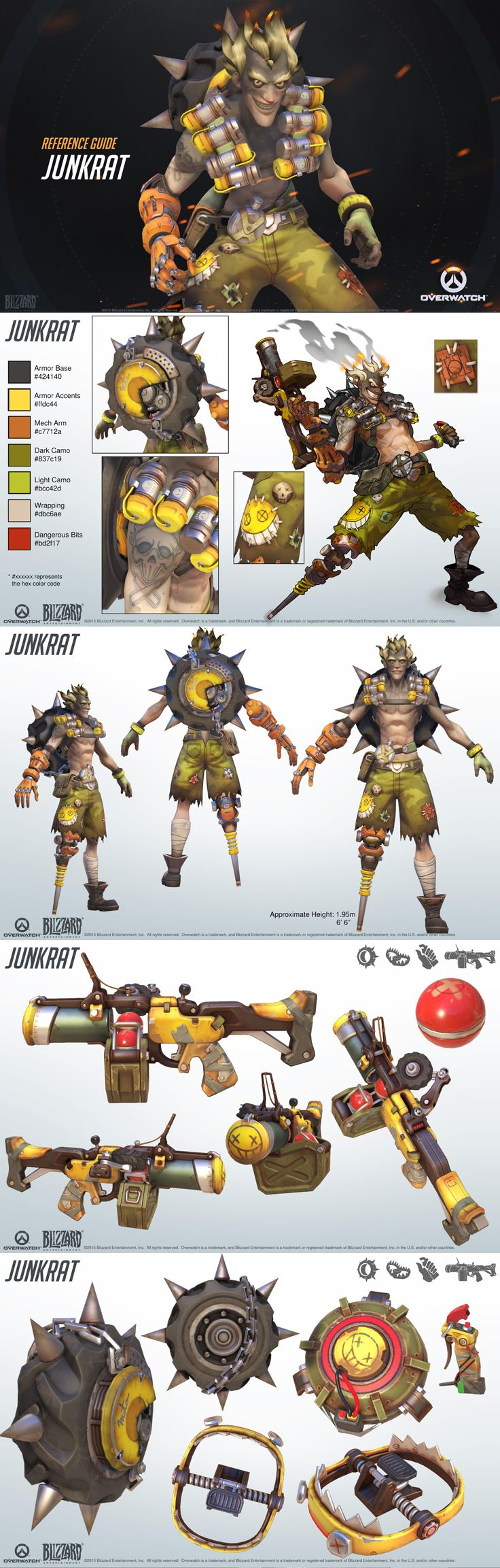 Overwatch Spotlight - Junkrat!  This crazy junker uses explosives to get the edge in battle. Then he'll rip you apart with his tire explosive.