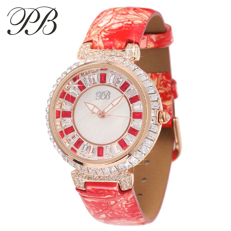 Find More Women's Watches Information about PB Brand Top Luxury Austrian Crystal Ladies Genuine Leather Watches Elegant Diamond Women Quartz Dress Watch relogio feminino,High Quality watch doll,China dress mens watches Suppliers, Cheap watch mobile phone wifi from YIKOO Watches Store on Aliexpress.com