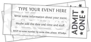 Free Printable Event Ticket Templates | Free Printables Online | Bloglovin'