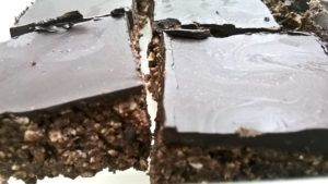 Nutty Chocolate Slice - low-sugar and decadent