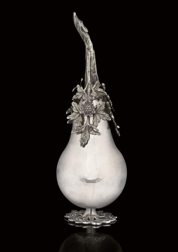 AN OTTOMAN SILVER WATER SPRINKLER, TURKEY, 19TH CENTURY