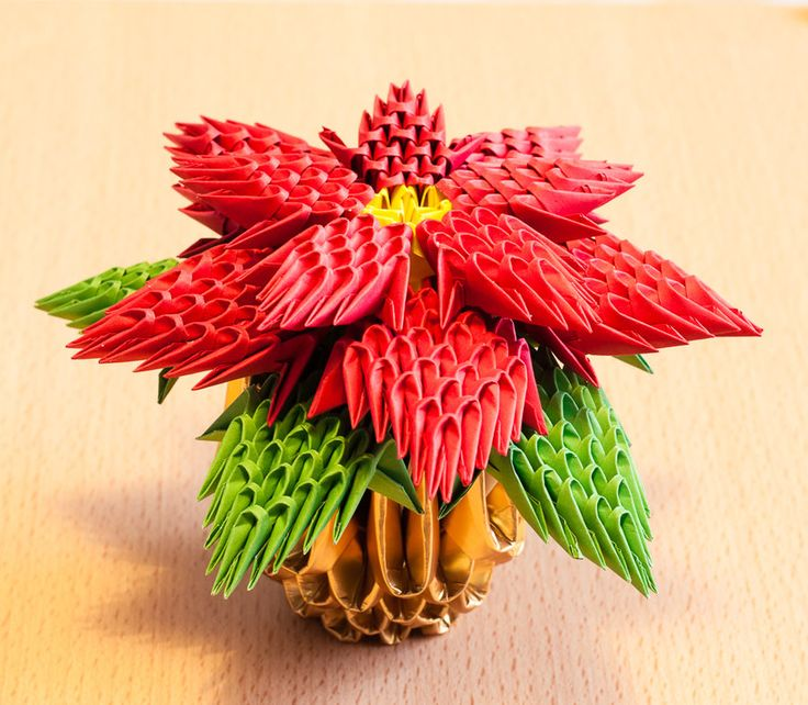 The 159 best kirigamiorigami images on pinterest modular origami poinsettia by karnoffel mightylinksfo