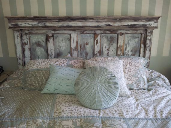 """I'm dreaming of an """"out-of-the-price-range-king-size-headboard!"""" - just like the ones I used to know...la la la King size Headboard by CoolthingsImade on Etsy"""