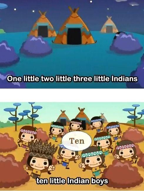 : Engels lied-Ten Little Indians