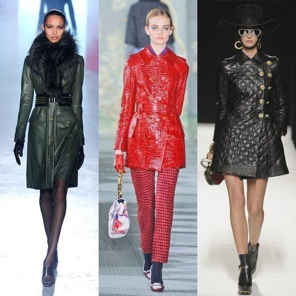 Кожаное пальто женское модные весной