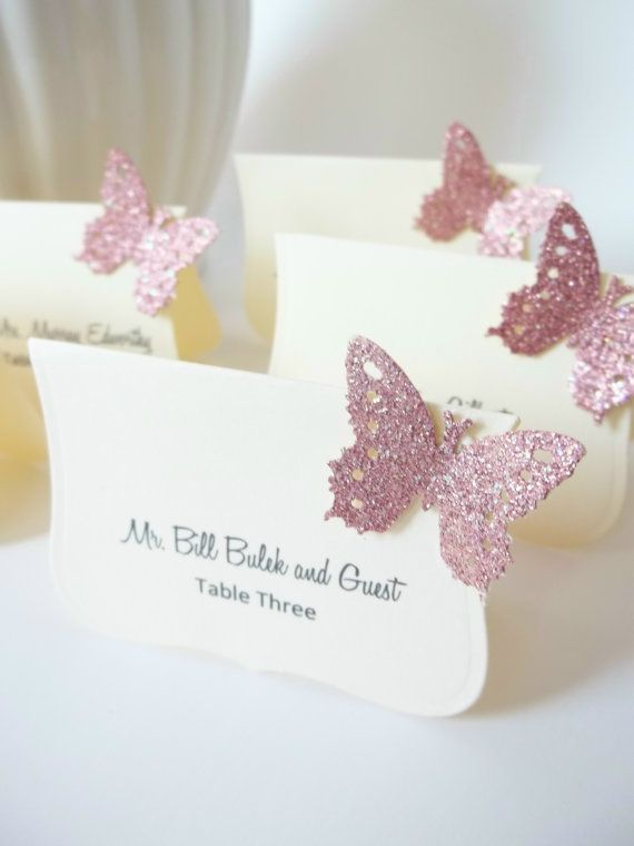 Wedding Luxe Escort Cards  Butterfly Place Cards by LillyThings, $0.99