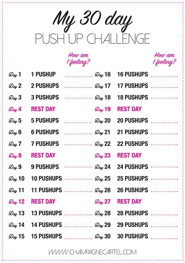 30 day pushup challenge for beginners - honestly, ANYONE can do this! by alana