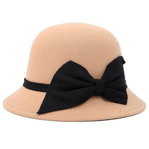 Bowknot Strappy Dome Fedora Hat