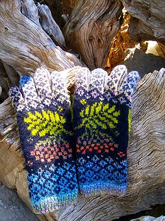 For color ideas please also see my Rowan Mittens ( both thick & quick, and classic pattern):