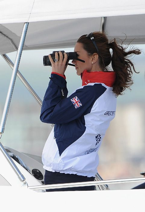London Olympics 2012: Duchess of Cambridge visits the sailing team in Weymouth