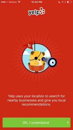 Yelp Screenshots