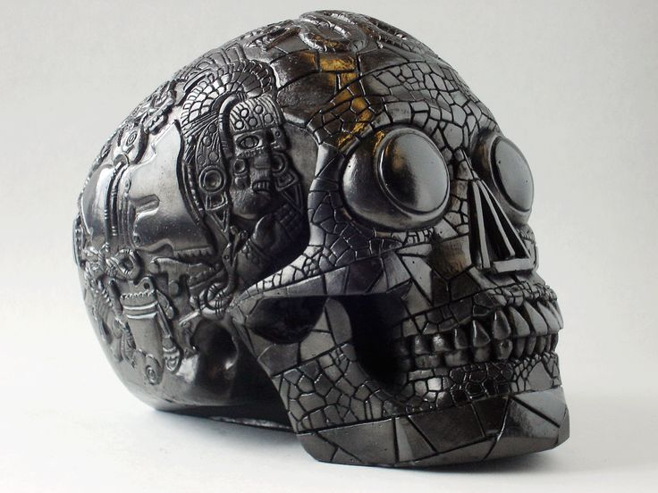 """Skulture""Aztec Skull by Design Clinic, UK • Cold cast resin in an obsidian style finish • 20x16x12cm • £45"