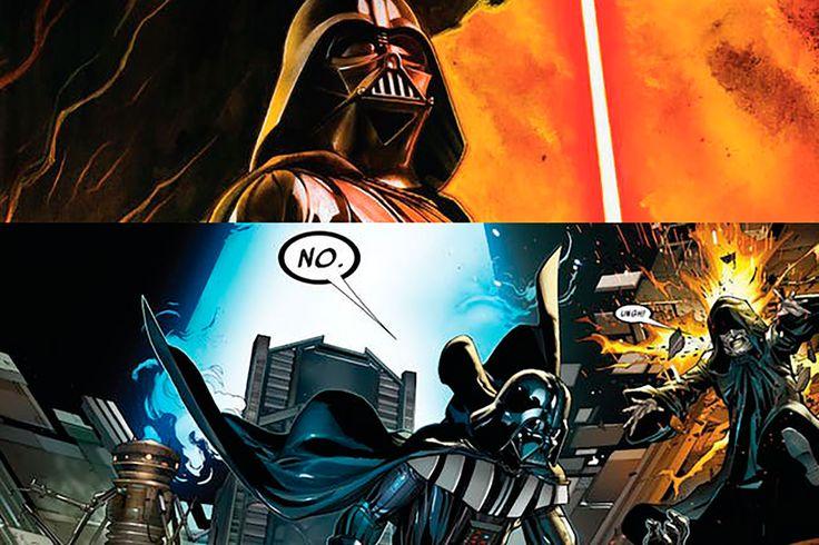 """'Star+Wars':+Los+cómics+de+Darth+Vader+cambian+el+legendario+""""¡Nooooooooo!""""+de+'La+venganza+de+los+Sith'"""