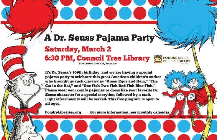 Dr Seuss 1st Birthday Party Ideas on Best Read Across America Images On Pinterest Bedtime Dr