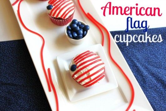 American Flag Cupcakes @createdbydianeCupcakes Createdbydian, Red White Blu, American Flags, Patriots American, Patriots Holiday, Flags Cupcakes, Food, July 4Th, Happy 4Th