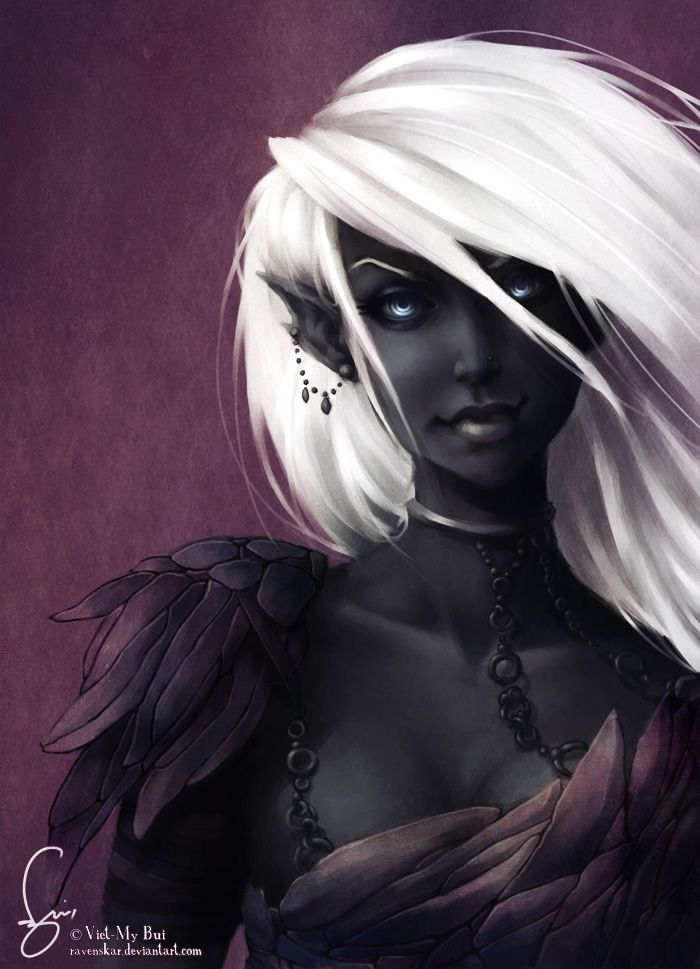Confession: I have always wanted the skin/hair color of a drow. ---Yeah me too, that is awesome.