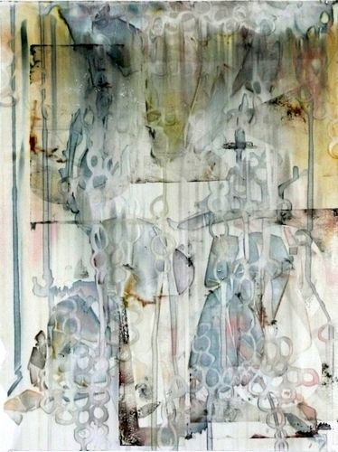 Print Making-Monoprint-Rickie Wolfe: Lost Time #2