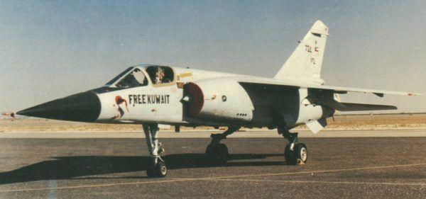 Kuwaiti Mirage F1-CK in the markings of the Gulf War.