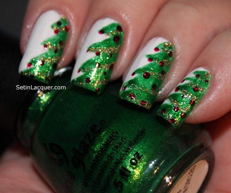 Christmas tree  #nail #nails #nailart
