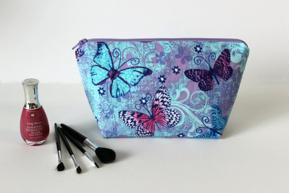 Butterfly Makeup Bag Cosmetic Case Planner by NaptimeCrazeDesigns #cjlinkup