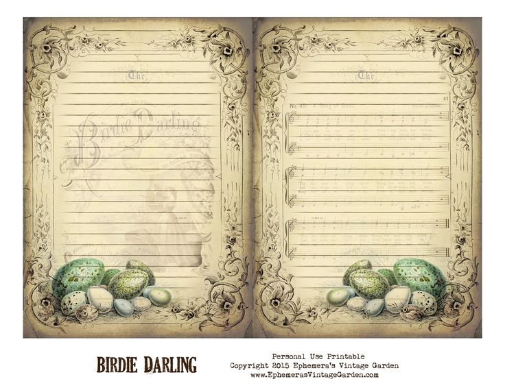 Ephemera's Vintage Garden: Free Printable - Vintage Journal Pages