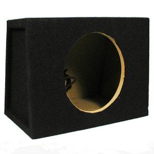"""New Single Car Black Subwoofer Box Sealed Automotive Enclosure for 8-Inch Woofer 8S by Sycho Sound. $26.99. SpecificationsNew Sealed Enclosure8"""" Woofer Hole is 7.125"""" in DiameterBuilt-in Terminal with Gold Screw PostsFits Mostly All CarsConstructed with High Quality MDF HardwoodEnclosure Volume is .46 Cubic FeetHeight 10"""" x Length 14.125"""" x Top Depth 6.875"""" x Bottom Depth 9.75""""Speaker Mounting Depth is 6.5""""10 PoundsThe Front (where the woofers loaded) is Flat and the Back ..."""