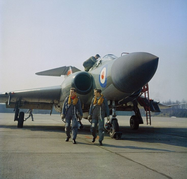 Crew of a Javelin at RAF Geilenkirchen, Germany, in April 1963. Maintaining a heightened alert state was a major undertaking. John Farley, a Hunter pilot of 4 Squadron at RAF Jever during the late-1950s recalled: 'it was 21–22 days a month that you were on some sort of formal standby duty on your squadron. It wasn't always you on the Battle Flight aeroplanes, but there were duty people in the hangar, duty people in the Ops Room, we were at a very high and continuous state of readiness'