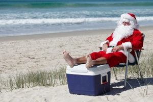 #summer #santa #beach #Christmas #Australia #xmas #esky