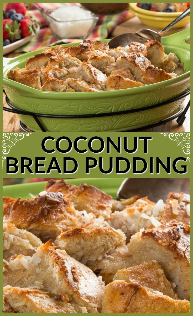 This Coconut Bread Pudding is perfect for Easter brunch. It's sweet ...